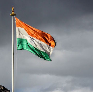 The_waving_Indian_flag